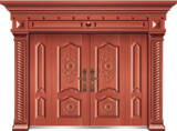 私人定制豪华非标门 -9030模压工艺门(真红铜)