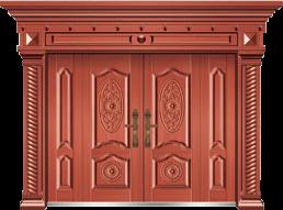 私人定制豪华非标门-8030模压工艺门(真红铜)