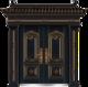 私人定制豪华非标门-8019模压工艺门(合金铜)
