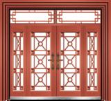 私人定制豪华非标门 -9063拼接玻璃门(真红铜)
