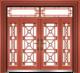 私人定制豪华非标门-8063拼接玻璃门(真红铜)