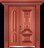 私人定制豪华非标门 -9056小门头门柱(真红铜)