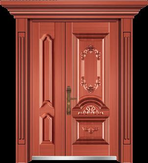 私人定制豪华非标门-9056小门头门柱(真红铜)