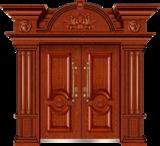 私人定制豪华非标门-8005拼接工艺门(大红酸枝)