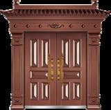 私人定制豪华非标门 -9020模压工艺门(准紫铜)