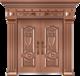 私人定制豪华非标门-8032模压工艺门(真黄铜)