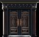 私人定制豪华非标门-8028模压工艺门(合金铜)