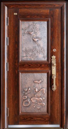 高端私人定制艺术安全门-喜上枝头