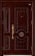 高端私人定制艺术安全门-053  东方明珠子母门(拼接)(库存)