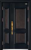 高端私人定制艺术安全门 -017  和为贵(锌合金拼接)