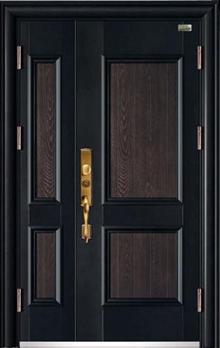 高端私人定制艺术安全门-017  和为贵(锌合金拼接)