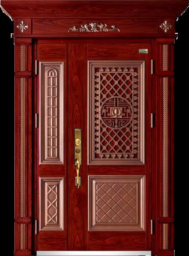 高端私人定制艺术安全门-005  大宅门