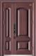高端私人定制艺术安全门-015  国颂子母门(锌合金)(库存)