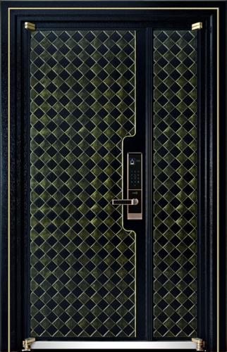 高端私人定制艺术安全门-001  霸守(铸铝)