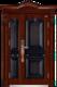 高端私人定制艺术安全门-003  家和天下(精雕、铸铝)