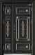 高端私人定制艺术安全门-009   国韵(铜拼接。锌合金)(库存)
