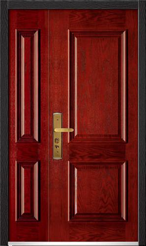 高端私人定制艺术安全门-011  贝尔诺   背面