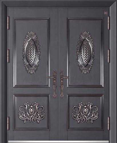 锌铜定制门-XT-010龙恩阁对开门