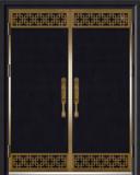 锌铜定制门-XT-003藏龙阁对开门