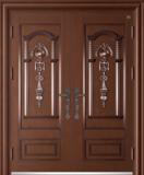 锌铜定制门 -XT-013中国结对开门(铜拼接,锌合金)