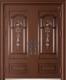 锌铜定制门-XT-013中国结对开门(铜拼接,锌合金)