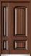 锌铜定制门-XT-017背面