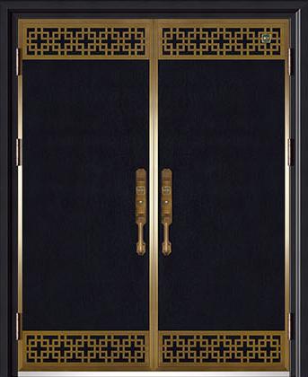 锌铜定制-XT-003藏龙阁对开门