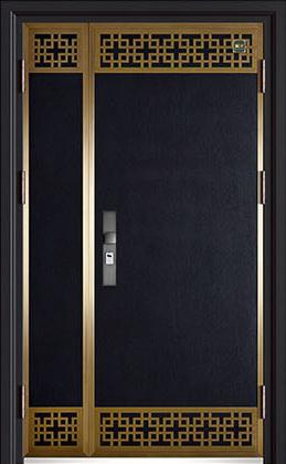 锌铜定制-XT-005藏龙阁子母门