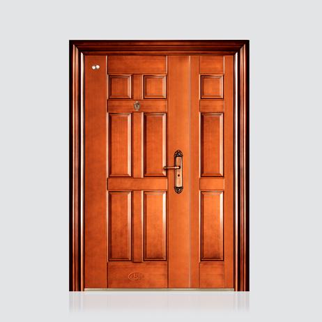 非标门-喜安仿铜木纹子母门