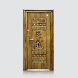 防盗安全门 -福安仿青铜门(滚花)