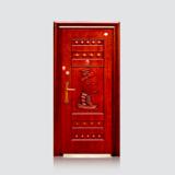 防盗安全门 -福安仿红铜门(滚花)