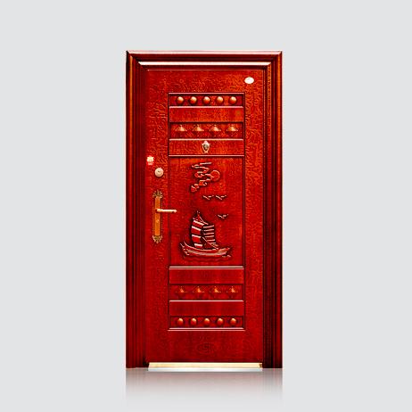 防盗安全门-福安仿红铜门(滚花)