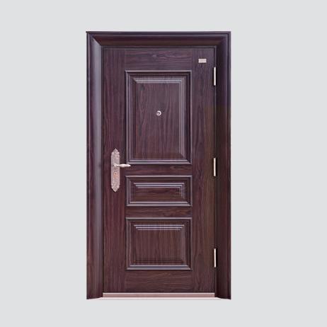 防盗安全门-精品福庆门(磨砂+黑胡桃)