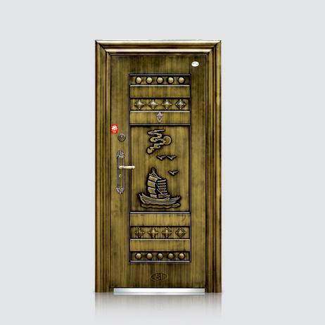 防盗安全门-福安仿青铜门(平板)