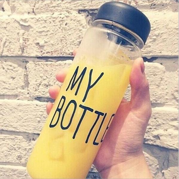 透明随手杯塑料杯磨砂玻璃礼品广告柠檬水杯子定制LOGO CX203