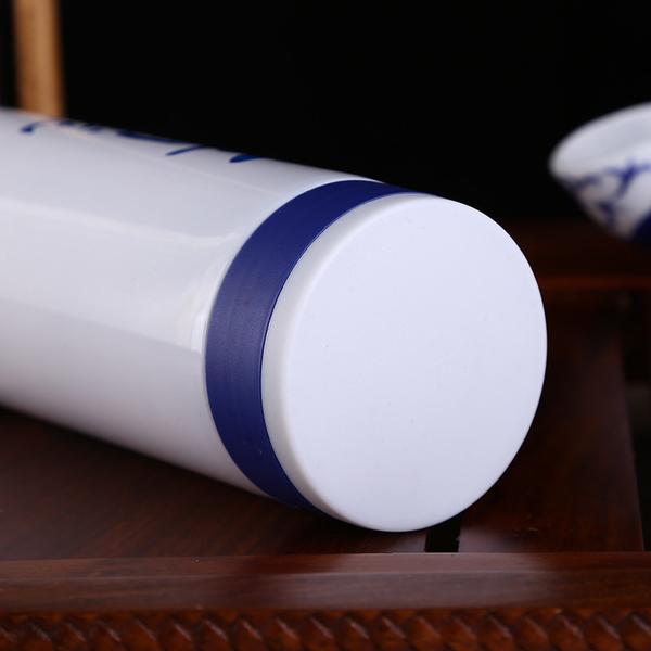 创意青花瓷水杯陶瓷图文保温杯广告宣传礼品杯日用百货杯子批发 CX009