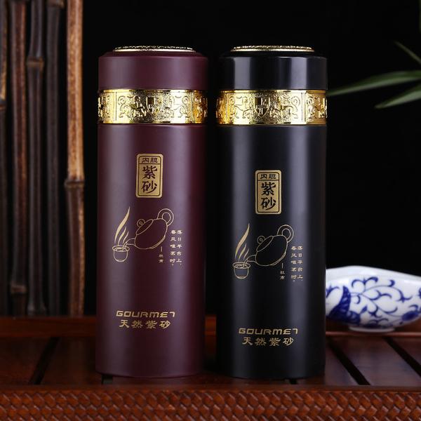 紫砂杯保温杯创意日用茶杯办公商务礼品杯刻字定制杯子厂家直销