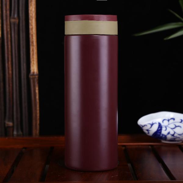 时尚创意紫砂内胆保温杯泡茶杯子男女士水杯商务礼品杯定制LOGO CX054