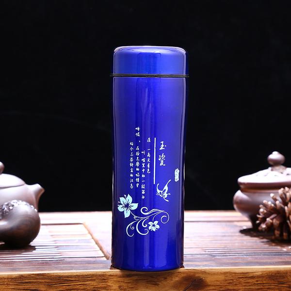 热销新款直身保温杯时尚花纹创意水杯广告促销礼品杯子厂家直销 CX052