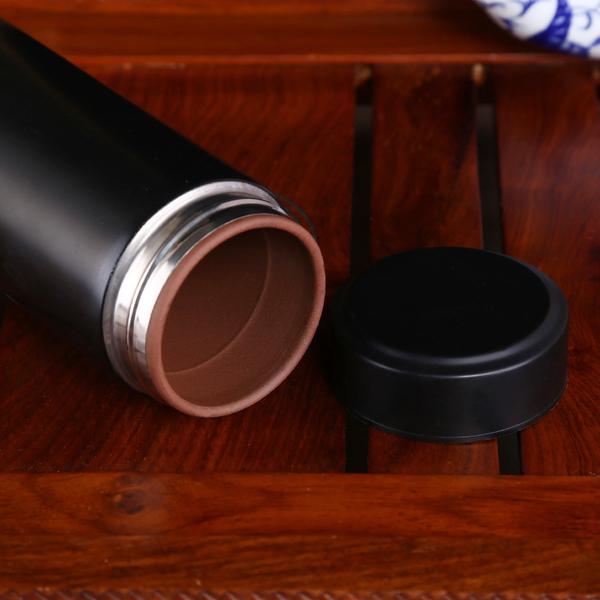 不锈钢麦饭石净化创意保温杯紫砂日用杯子定制LOGO凯时k66网址厂家批发 CX041