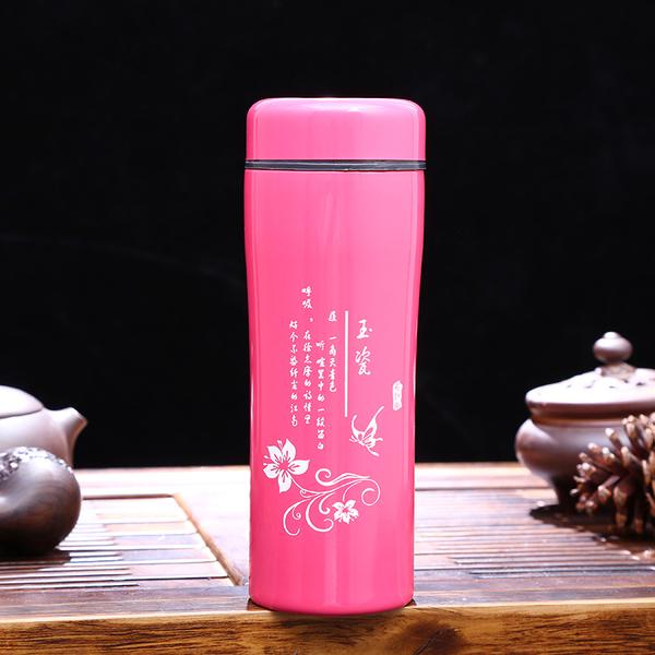 热销新款直身保温杯时尚花纹创意水杯广告促销凯时k66网址子厂家直销 CX052