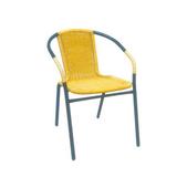铝管椅.编藤椅 -CHO-124-2A