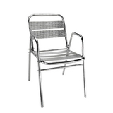 铝管椅.编藤椅 -CHO-124-9