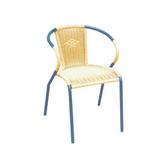 铝管椅.编藤椅 -CHO-124-2B