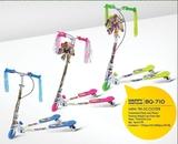 快乐伙伴710童滑板车蛙式车三轮闪光蛙式滑板车双脚踏板车剪刀车 -710