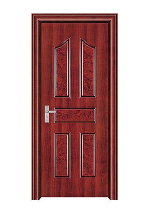 室内套装门-061(红拼木)富顺