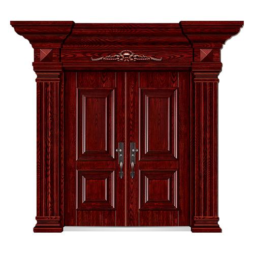 精雕木纹门-LL-8202
