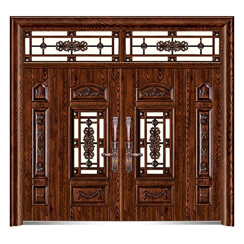 精雕木纹门-LL-8206