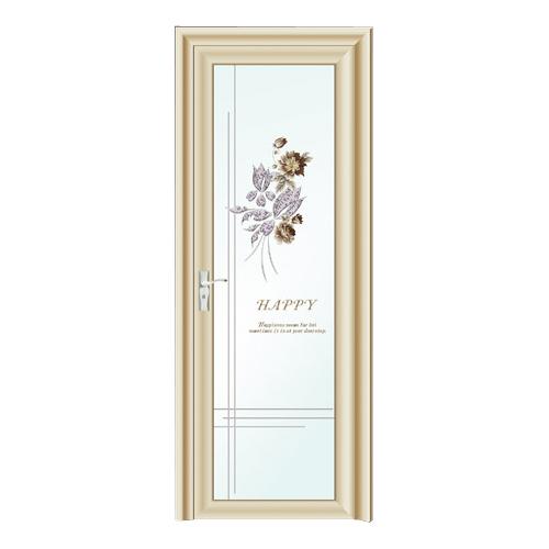卫浴门-2100-钻石紫金金弧平开门-立体彩膜