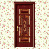 钢木门 -XLL-187(花开富贵)加州红橡